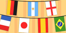 World Cup 2014 A4 Flag Bunting 32 Countries