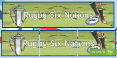 Rugby Six Nations Banner