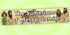 The Sumerians Of Mesopotamia Display Banner