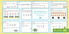 Tarjetas de desafío matemático: 1º ciclo - Los dinosaurios