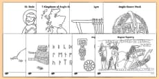 Anglo Saxons Colouring Sheets