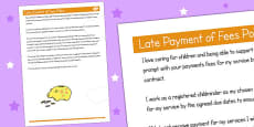 Late Payment of Fees Policy