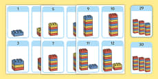 Build a Tower Numbers 1-30