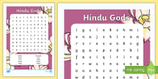 Hindu Gods Word Search