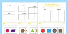 Zestaw kart Porządkowanie figur geometrycznych