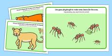 Jungle and Rainforest Playdough mats Polish Translation