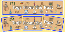 Toys from the Past Display Banner