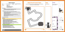 EYFS Winnie's Spell Mark Making Busy Bag Plan and Resource Pack to Support Teaching on Winnie the Witch