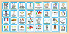 Visual Timetable for KS1 German Translation