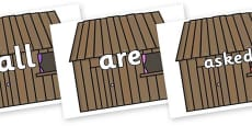 Tricky Words on Wooden Houses
