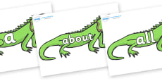 100 High Frequency Words on Iguanas