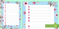 * NEW * Spring Blossom Acrostic Poem