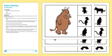 Shadow Matching Busy Bag Resource Pack for Parents to Support Teaching on The Gruffalo's Child