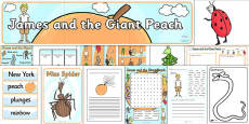 Resource Pack to Support Teaching on James and the Giant Peach