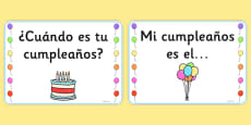 Birthday Board Cards Spanish