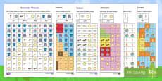 Summer Mosaic Images Activity Sheets