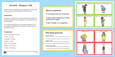 Simon Says Picture Cards French