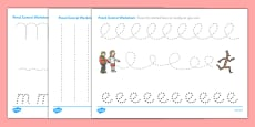 Pencil Control Sheets to Support Teaching on Stick Man