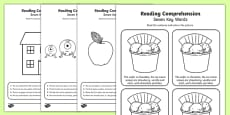 Reading Comprehension Seven Key Words Activity Sheet Pack