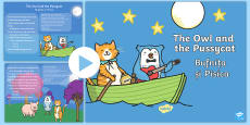 * NEW * The Owl and the Pussycat PowerPoint English/Romanian