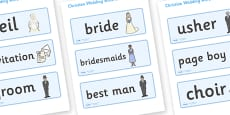 Weddings Word Cards