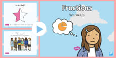 Year 1 Fractions Warm-Up PowerPoint