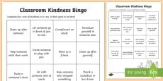 Classroom Kindness Bingo Activity