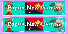 Papua New Guinea Display Banner