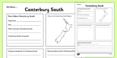 All About Canterbury South Writing Frame