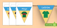 GAA Connacht County Colours Display Bunting