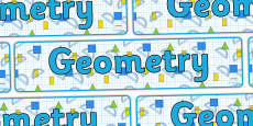 Geometry Display Banner