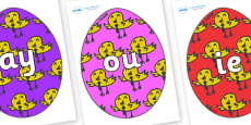 Phase 5 Phonemes on Easter Eggs (Chicks)