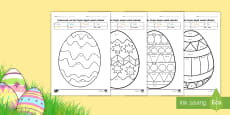 Colorează oul de Paște după codul câtului