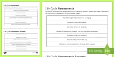 * NEW * Life Cycle Assessments Sequencing Cards