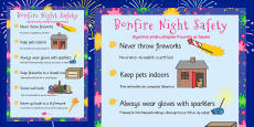 Bonfire Night Safety Posters Romanian Translation