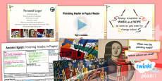 PlanIt - Art UKS2 - Ancient Egypt Lesson 6: Finishing Masks in Papier Mache Lesson Pack