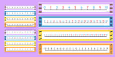 Burglar Number Lines Pack up to 30
