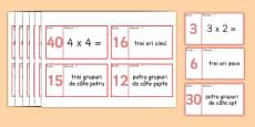 Domino cu tabla înmulțirii cu 3 si 4 - Joc matematic