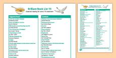 Brilliant Book List Y3