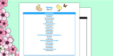 Spring Book List
