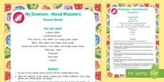 * NEW * My Emotions Mood Monsters Sensory Bottle