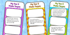 2014 Curriculum Year 5 Maths Target Bookmarks