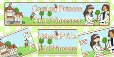 'Castles, Princes and Princesses' Display Banner