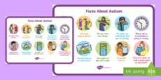 Facts About Autism for EYFS and KS1 A4 Display Poster