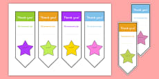 Editable Thank You Bookmarks
