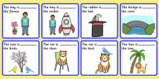 Preposition Picture Description Cards