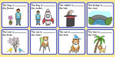 Preposition Picture Description Cards