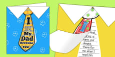 Father's Day Flap Tie Card Craft