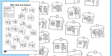 Houses and Homes Roll and Colour Activity Sheet