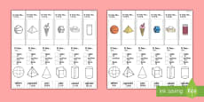 * NEW * 3D Shape Properties Interactive Visual Aid English/Mandarin Chinese